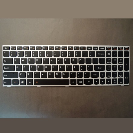 102-KEY FOR LENOVO G50-70 SERIES LAPTOP KEYBOARD WITH BLACK KEYS AND SILVER FRAM