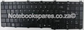 TOSHIBA SATELLITE 650 LAPTOP KEYBOARD IN BLACK /WHIT
