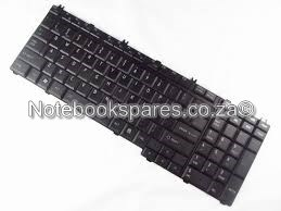 TOSHIBA SATELLITE p200 LAPTOP KEYBOARD IN BLACK/SILV